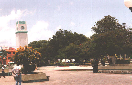 Cozumel's town square