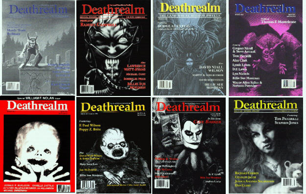 A gallery of DEATHREALM covers