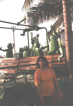 Julie outside Senor Frog's