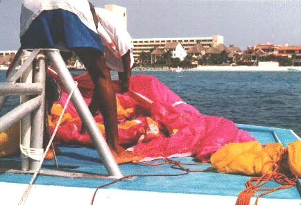 Preparing to Parasail
