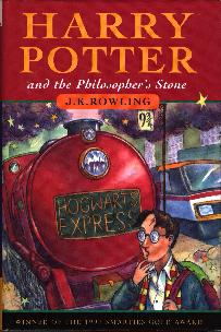 Click to see the cover of HARRY POTTER AND THE PHILOSOPHER'S STONE full-size